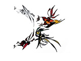 Bugs in Flight Wall Decal by Norma Kramer