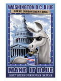 Washington D.C. Blue, House Improvement 2006 Wall Decal by Richard Kelly