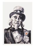 Uncle Sam for the Red Cross wandtattoos von James Montgomery Flagg