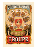 British Blonde Burlesque Troupe Wall Decal by Sheridan Corbyn