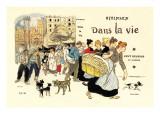 Dans la Vie, c.1900 Autocollant mural par Théophile Alexandre Steinlen