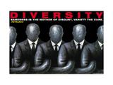 Rozmanitost, Diversity (citát vangličtině) Lepicí obraz na stěnu