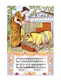 There Was a Lady Loved a Swine, c.1885 Wall Decal by Walter Crane