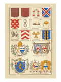 Heraldic Arms: Tenne and Sanguine Wall Decal by Hugh Clark