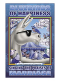 The Bluebird of Happiness Singing the Praises of Marriage Wall Decal by Richard Kelly