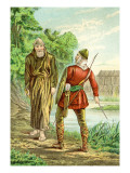 Friar Tuck and Robin Hood Wall Decal