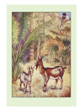 Robinson Crusoe: Having No Victuals to Eat, I Killed a She-Goat Wall Decal by Milo Winter