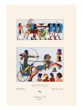 Egyptian Military Hairstyles and Costumes Wall Decal by  Racinet