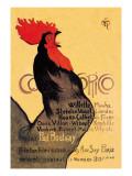 Cocorico, c.1899 Wallstickers af Théophile Alexandre Steinlen