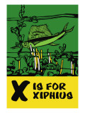 X is for Xiphius Wall Decal by Charles Buckles Falls