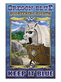 Oregon Blue, Pioneering Rights Wall Decal by Richard Kelly