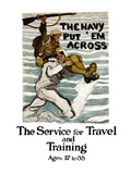 The Navy Put 'Em Across, c.1918 Wall Decal by Henry Reuterdahl