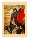 A Man May Be Down But He's Never Out! Wall Decal by Frederick Duncan