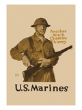 Another Notch, Chateau Thierry, US Marines Wall Decal by Adolph Treidler