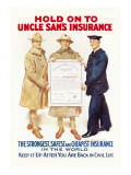 Hold on to Uncle Sam's Insurance Muursticker van James Montgomery Flagg