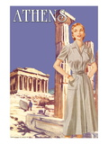 Athens 50's Fashion Tour I Wall Decal