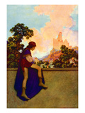 The Knave Watching Violetta Depart Wall Decal by Maxfield Parrish