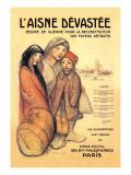 L'Aisne Devastee, c.1918 Wallsticker af Théophile Alexandre Steinlen