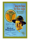Know Him By This Sign, Join the Medical Department, U.S. Army Wall Decal by Barto Van Voohis Matteson
