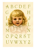 Big Girl Alphabet Wall Decal by Ida Waugh