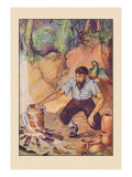 Robinson Crusoe: I Wanted No Sort of Earthenware Wall Decal by Milo Winter