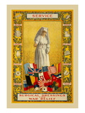 Service, Surgical Dressings for War Relief Wall Decal by Thomas Tryon