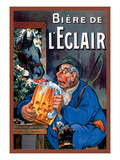 Biere de L'Eclair Wall Decal by Eugene Oge