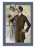 Dapper Man and Maudlin Girl Wall Decal