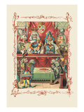 Alice in Wonderland: The King and Queen's Court Wall Decal by John Tenniel