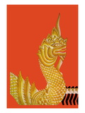 Dragon Temple of Siam Wall Decal by Frank Mcintosh