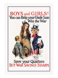 Boys and Girls, War Savings Wall Decal by James Montgomery Flagg