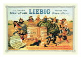 Liebig, Meat Extract, c.1889 Autocollant mural par Théophile Alexandre Steinlen