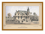Illinois Building, Centennial International Exhibition, 1876 Wall Decal by Thompson Westcott