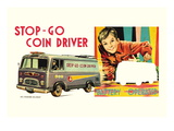 Stop-Go Coin Driver Wall Decal