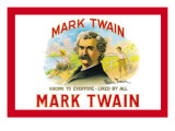 Mark Twain Cigars Wall Decal