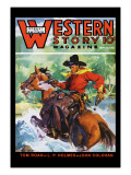 Western Story Magazine: No Limits Wall Decal