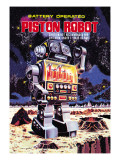 Battery Operated Piston Robot Wallstickers