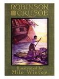 Robinson Crusoe Wall Decal by Milo Winter