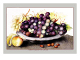 Dish of Grapes and Peaches Wall Decal by Giovanna Garzoni
