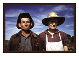 Jim Norris and Wife, Homesteaders Wall Decal by Russell Lee