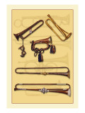 Calvary Bugle and Calvary Trumpets Wall Decal