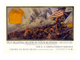 Put Fighting Blood in your Business Wall Decal by Dan Smith