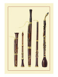 Dolciano, Oboe Da Caccia, Oboe, Basset Horn and Bassoon Wall Decal