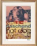 Daschund Hot Dog Limited Edition Framed Print by M.J. Lew