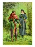 Robin Hood and Maid Marian Wall Decal