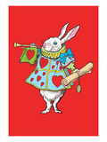 Alice in Wonderland: Horn and Hearts Wall Decal by John Tenniel