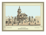 Michigan Building, Centennial International Exhibition, 1876 Wall Decal by Thompson Westcott