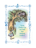 Alice in Wonderland: It&#39;s the Cheshire Cat Autocollant mural par John Tenniel