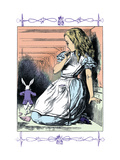 Alice in Wonderland: Alice Watches the White Rabbit Wall Decal by John Tenniel