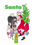 Santa Gives Toys to Children Wall Decal by Dorothy Mckay